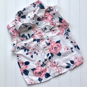 •Carter's• floral blouse